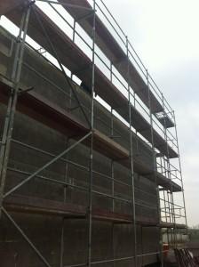 Fassadengerüst für Putz der Außenfassade