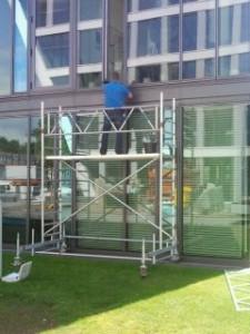 Arbeiten an Fassade Bonn - Bonnder-Bogen