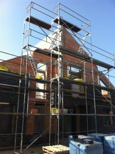 Klinker Gerüst in Bergheim-Kerpen Neubau Einfamilienhaus