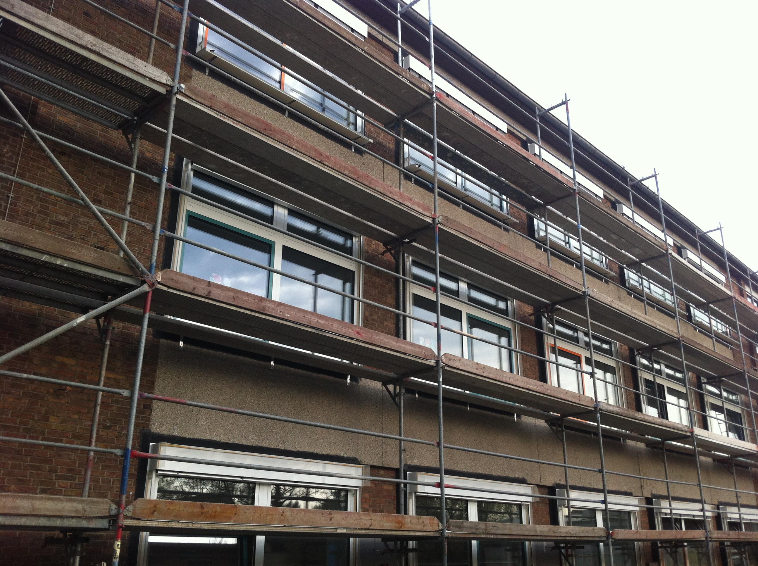 Putzarbeiten Fassade Gerüstbau