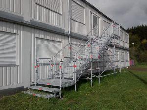 Fluchttreppe Container mieten